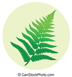 Fern leaf - One fern leaf in a circle.
