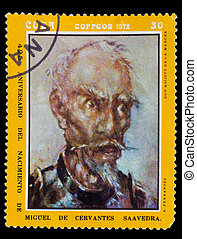 fernandez, 1972:, quixote, circa1972, la, francobollo, circa...