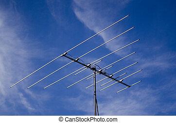fernsehapparat, analog, überholt, antenne