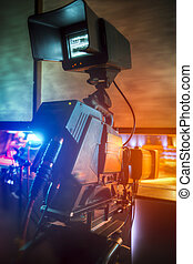 fernsehapparat, aufnahme, fotoapperat