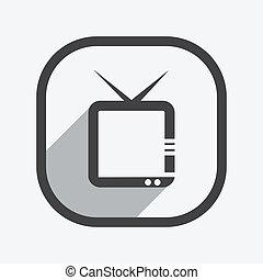 fernsehapparat, ikone