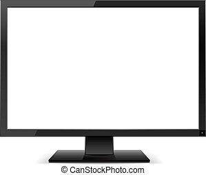 fernsehapparat, lcd, monitor