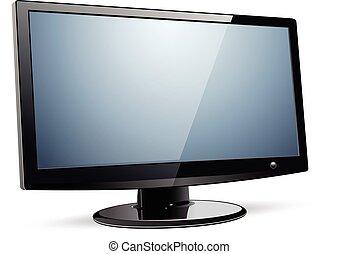 fernsehapparat, web, monitor