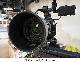 fernsehkamera, studio