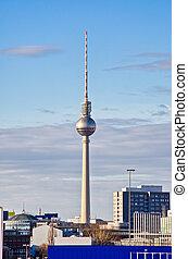 Fernsehturm tower in Berlin, Germany - Fernsehturm tower in ...