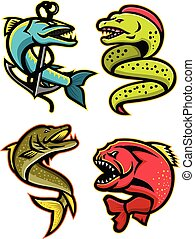 Ferocious Fishes Sports Mascot Collection