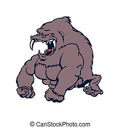 ferocious Gorilla powerful cartoon character