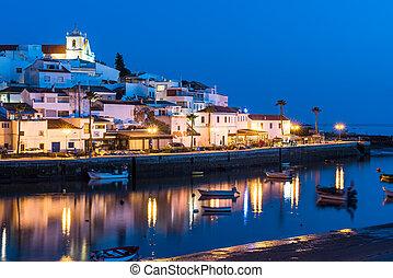 Ferragudo fisherman village in Portugal
