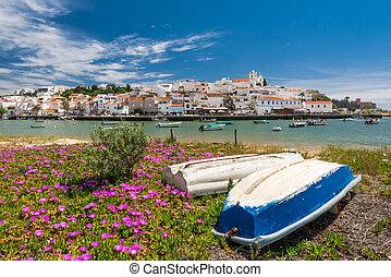 Ferragudo fishing village in ALgarve, Portugal