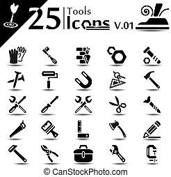 ferramenta, ícones, v.01