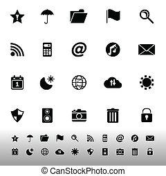 ferramenta, barzinhos, fundo branco, ícones