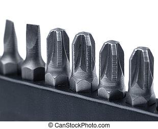 ferramenta metal, difícil, bits