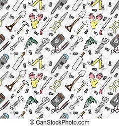 ferramenta, padrão, seamless