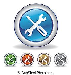ferramenta, vetorial, ícone