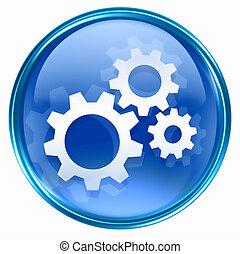 ferramentas, ícone, azul