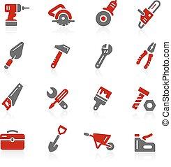 ferramentas, ícones, -, redico, série