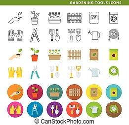 ferramentas ajardinando, icons.