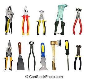 ferramentas, com, recortar caminhos