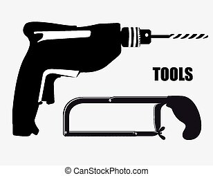 ferramentas, desenho, vetorial, illustration.