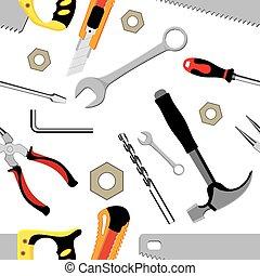 ferramentas, fundo, mão