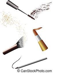 ferramentas, maquiagem