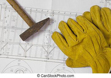 ferramentas, planos