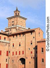Ferrara castle - Medieval castle in Ferrara, Italy. Castello...