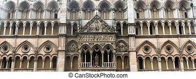 Ferrara (Italy) - Ferrara (Emilia-Romagna, Italy): facade of...