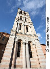 Ferrara - Italy - unfinished bell tower of Romanesque...