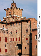 Ferrara - Medieval castle in Ferrara, Italy. Castello...