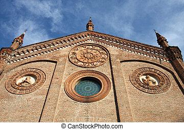 Ferrara, city in Emilia-Romagna, Italy. Chiesa di Santo...