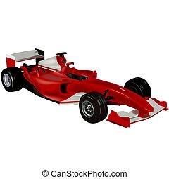 Ferrari F2004 - High detailed and coloured illustration.