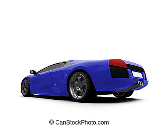 Ferrari isolated blue back view