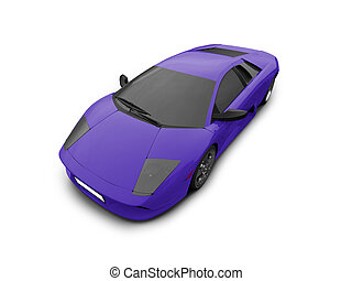 Ferrari isolated blue front view - isolated sport car on ...