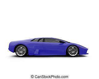 Ferrari isolated blue side view - isolated sport car on ...