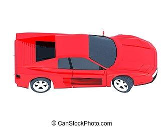 Ferrari Testarossa 3d render isolated - Ferrari Testarossa ...