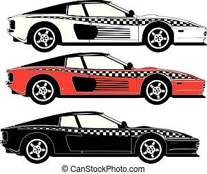 Ferrari Testarrosa Racing Car Set