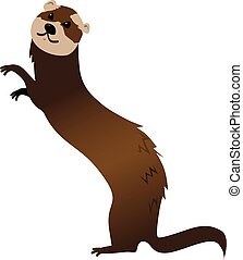 Ferret - Cartoon ferret, EPS 8 vector illustration