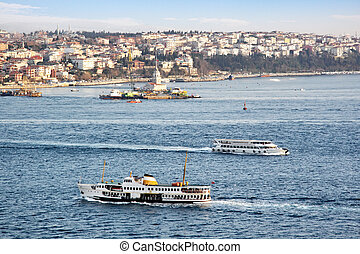 Ferries in Bosporus