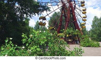ferris roue, nucléaire, pripyat, chernobyl, zone, exclusion, ukraine, abandonnés