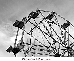 Ferris Wheel - A ferris wheel in a fair ground.