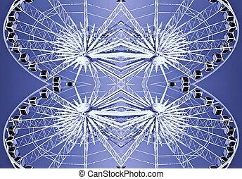 Ferris wheel abstract