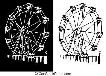 Ferris Wheel  - An image of a ferris wheel.