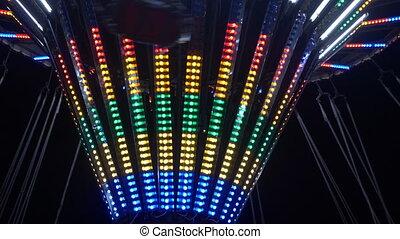Ferris Wheel At An Amusement Park At Night