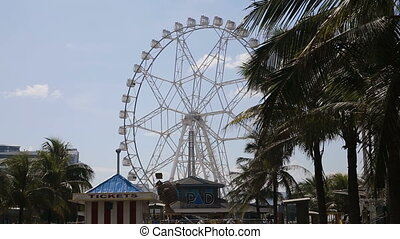 Ferris wheel at an amusement park in Manila...