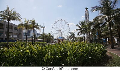 Ferris wheel at an amusement park in Manila...