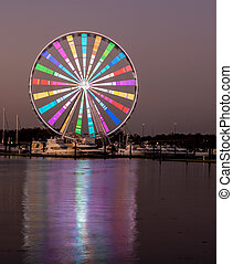 Ferris wheel at National Harbor in Maryland outside Washington DC