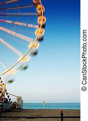 Ferris wheel at the beach