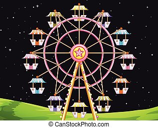 Ferris Wheel - Illustration of a giant ferris wheel