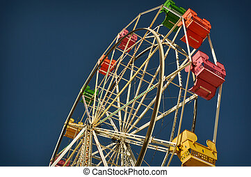 Ferris Wheel - Exciting red, pink, yellow ferris wheel